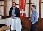 Florian Hunziker (links) mit EDU-Präsident Daniel Graber. (Bild: PD)