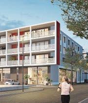 Visualisierung des Projektes «Wohnen am Saurerplatz». (Bild: PD)