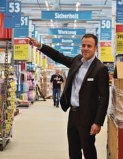 Jumbo-CEO Jérôme Gilg im neuen Maximo, der am Samstag eröffnet wird. (Bild: Max Eichenberger)