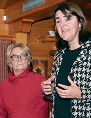Fachärztin Christa Meyenberger und Frau Statthalter Antonia Fässler unterstützen sich gegenseitig bei einer grossen Aufgabe: Sie wollen einen Spitalneubau politisch durchbringen. (Bild: Roger Fuchs)