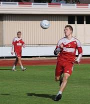 Die Schweizer U21-Faustball-Nati spielt in einer Woche auf der Sportanlage Waldegg in Münchwilen. (Bild: pd)