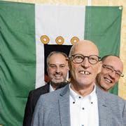 Treffpunkt Wirtschaft Buchs mit (von links) Rolf Pfeiffer, Herbert Bokstaller (Präsident) und Bruno Thöny. (Bild: Hansruedi Rohrer)