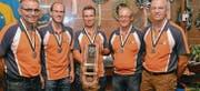Dicken Ebnat-Kappel, Elite: Hansueli Mettler, Marcel Schilliger, Markus Künzli, Iwan Hüppi, Hanspeter Künzli (von links). (Bild: pd)