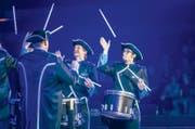 Verblüffende Akrobatik und präzise Rhythmen: «Fascinating Drums» aus Deutschland. (Bild: Michel Canonica)