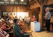 Referent Guido Leutenegger zog das Publikum mit seinen Erläuterungen in seinen Bann. (Bild: Trudi Krieg)