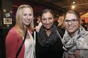 Amüsierten sich gut: Larissa Edelmann, Priya Hauser und Nadine Niedermann. (Bilder: Chris Marty/tgplus.ch)