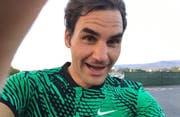 Ein Selfie für die Fans. (Bild: Roger Federer/Twitter)