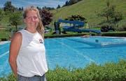 Die Arbonerin Sandra Mathis ist neue Bademeisterin in Walzenhausen. (Bild: Isabelle Kürsteiner)