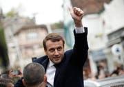Gewinnt mit seiner Bewegung eine absolute Mehrheit: Emmanuel Macron. (Bild: YOAN VALAT (EPA))