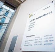 Der Eingangsbereich des städtischen Amts für Soziale Dienste an der Rheinstrasse 6. (Bild: Andrea Stalder)