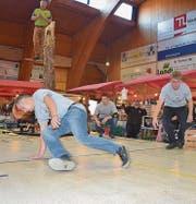 Die Real shady Crew mit ihrem Breakdance und David Schnellmann und Albert Kläger von Axemen Nordostschweiz begeistern.