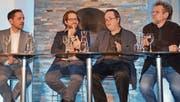 Mario Testa leitete den Diskurs zwischen Marius Busemeyer, Damian Miller und Helmut Weber. (Bild: Margrith Pfister-Kübler)
