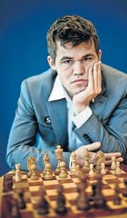 Will mit 22 Jahren auf den Schach-Olymp: Herausforderer Magnus Carlsen. (Bild: afp/Daniel Sannum Lauten)