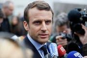 Emmanuel Macron. (Bild: THOMAS SAMSON / POOL (EPA))