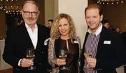 Unternehmer Hermann Hess mit Claudia Felber und ihrem Ehemann, dem Jazzmusiker Dani Felber. (Bilder: Nana do Carmo)