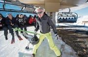 Bernhard Russi (hier im Dezember 2015 bei einer Bahneröffnung in der Skiarena Andermatt) spricht über Wirtschaft und Sport. (Bild: Urs Flüeler/KEY)