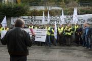 Bereits vergangenes Jahr wurde gegen die Zollschliessung protestiert. (Bild: Ralph Ribi)