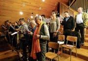 Der Kirchenchor während einer Probe. (Bild: PD)