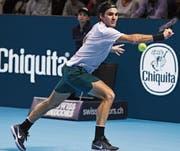 Auch Roger Federers Defensivqualitäten waren gegen Juan Martín del Potro gefragt. (Bild: Kurt Schorrer/Keystone)