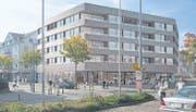 So soll «Neues Wohnen in der Alten Post» dereinst aussehen. Wann der Neubau vis-à-vis des Flawiler Bahnhofs stehen wird, ist jedoch ungewiss. (Bild: Visualisierung: pd)