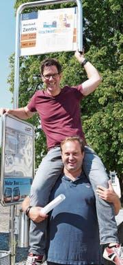 Tragen die Idee: Florian Rexer und Andreas Müller. (Bild: Rita Kohn)