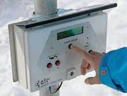 Per Knopfdruck kann die Anlage gestartet werden. (Bild: pd)