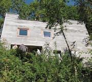 Der bekannte Architekt Rudolf Olgiati konnte 1967 ein Ferienhaus im Luckentobel in Unterwasser bauen. (Bild: Hansruedi Kugler (Unterwasser, 8. September 2012))