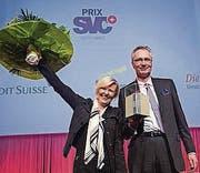 Die glücklichen Gewinner. (Bild: ky/Dominik Baur)