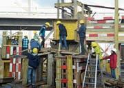 Hier auf der Kinderbaustelle sind zukünftige Bauexperten am Werk. (Bild: PD)