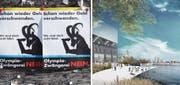 Keine Chance: Sowohl die Olympischen Spiele im Bündnerland als auch die Expo in der Ostschweiz fanden keine Gnade beim Stimmbürger. (Bild: Keystone/pd)