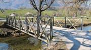 Soll ersetzt werden: Die Rheintaler Binnenkanal-Brücke im Rütteli in Sennwald. (Bild: pd)
