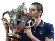 30.10.2016; Basel; Tennis - Swiss Indoors 2016; Marin Cilic (CRO) mit dem Pokal (Steffen Schmidt/freshfocus) (Bild: Steffen Schmidt/freshfocus (freshfocus))