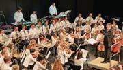 Das Jugend-Symphonieorchester an einem Konzert noch unter der Leitung von Dirigent Roger Ender. (Archivbild: Barbara Hettich)