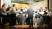 Die Sängerrunde am Nollen an ihrem Jahreskonzert im Januar. Am Sonntag weihen die Männer ihre neue Vereinsfahne ein. (Bild: PD)