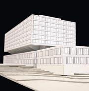 Projektstudie: Anstelle des Hochhauses am Spital Frauenfeld ist ein Neubau geplant. (Bild: Spital Thurgau AG)