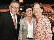 Bankrat Werner Dickenmann mit Ehefrau Margrith und der ehemaligen Bankrätin Erika Linder. (Bild: Donato Caspari (Donato Caspari))