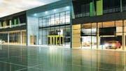 Das Parterre des Neubaus wird als Ausstellungsraum und Werkstatterweiterung genutzt. Im ersten Stock entsteht ein Motel. Visualisierung (Bild: : PD)