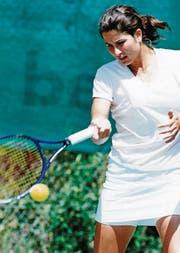 Schweizer Meisterschaft 1994 in Kreuzlingen: Mirka Vavrinec spielt (gegen Martina Hingis). (Archivbild: Mario Gaccioli)