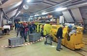 Der Tag des offenen Tors im Bergwerk Gonzen bleibt ein Magnet und grosses Erlebnis für Familien. (Bild: PD)