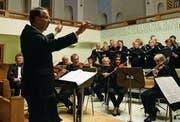 Dirigent Karl Hardegger ist seit mehreren Jahren Chorleiter des Oratorienchors Rheintalische Singgemeinschaft. (Bilder: Carmina Wälti)