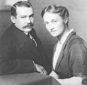1914 in Werdenberg: Fritz Sigrist und Clara Hilty anlässlich ihrer Verlobung. (Bild: Archiv für Zeitgeschichte)