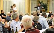 Prominenter Gast am Donnerstag an der Hauptversammlung der SVP AI war alt Bundesrat Christoph Blocher. (Bild: H9)
