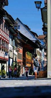 Altstadt von Zug: Historisch gewachsene Wahlkreise. (Bild: ky/Gaëtan Bally)