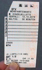Diese Mehrfahrtenkarte gilt bis ins Jahr 2019. (Bild: Martin Knoepfel)
