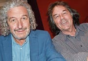 Vorstandsmitglied sowie Regisseur Jean Grädel und Theaterleiter Philippe Wacker während der Versammlung. (Bild: Margrith Pfister-Kübler)