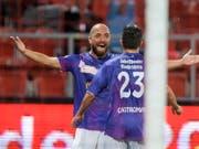 Tunahan Cicek bejubelt fast in jedem Spiel seine Tore (Bild: KEYSTONE/JEAN-CHRISTOPHE BOTT)