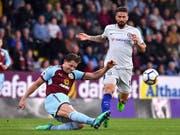 Grosser Kampf, kein Erfolg: Burnley (James Tarkowski, links) verliert gegen Chelsea (Bild: KEYSTONE/AP PA/ANTHONY DEVLIN)