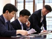 Testlauf für die Hotline zwischen Süd- und Nordkoreas Präsidenten (Bild: KEYSTONE/EPA YNA / ROK PRESIDENTIAL OFFICE/ROK PRESIDENTIAL OFFI)