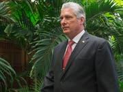 Miguel Díaz-Canel ist vom Parlament in Havanna zum neuen Staatspräsidenten von Kuba gewählt worden. (Bild: KEYSTONE/EPA/MICHAEL REYNOLDS)