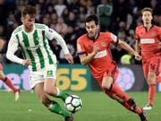 Stürmer Juanmi (rechts) traf gegen Atlético zweimal (Bild: KEYSTONE/EPA EFE/RAUL CARO)